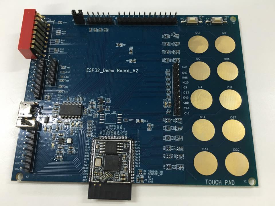 ESP32 demo board front side